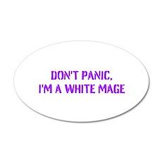 Don't panic! 22x14 Oval Wall Peel