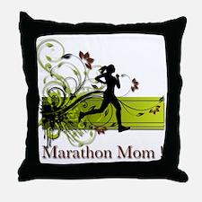 Marathon Mom Throw Pillow