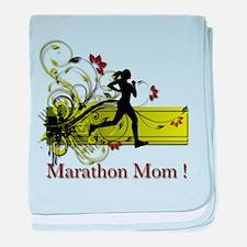 Marathon Mom baby blanket