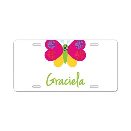 Graciela The Butterfly Aluminum License Plate