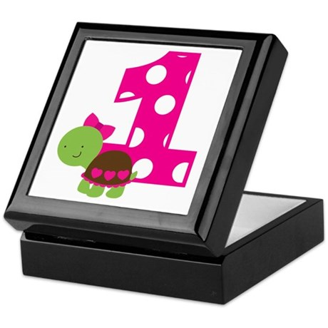 Turtle 1st Birthday Keepsake Box