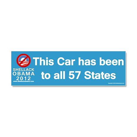 57 States Car Magnet 10 x 3