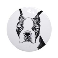 BOSTON TERRIER - DOG Ornament (Round)
