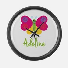 Adeline The Butterfly Large Wall Clock