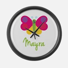 Mayra The Butterfly Large Wall Clock