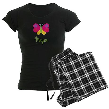 Mayra The Butterfly Women's Dark Pajamas