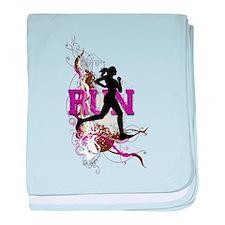 Run - Running Girl baby blanket