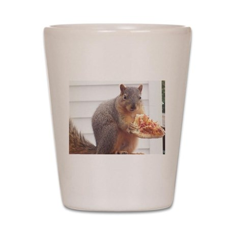 Lil Petey - The Pizza Eating Squirrel Shot Glass