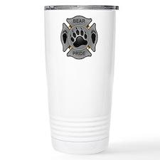 Bear Pride Firefighter Badge Travel Mug