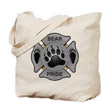 Bear Pride Firefighter Badge Tote Bag