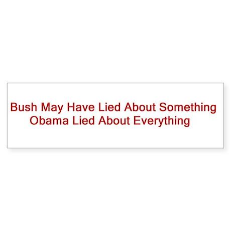 Obama Liar Sticker (Bumper)