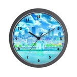 San Francisco in Blue Wall Clock