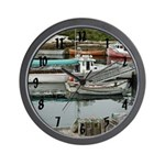 Peggy's Cove Boats Wall Clock