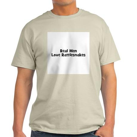 Real Men Love Rattlesnakes Ash Grey T-Shirt