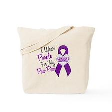I Wear Purple 18 Alzheimers Tote Bag