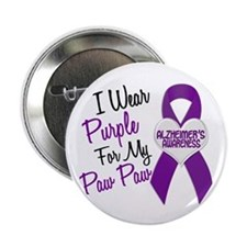 "I Wear Purple 18 Alzheimers 2.25"" Button"