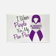 I Wear Purple 18 Alzheimers Rectangle Magnet