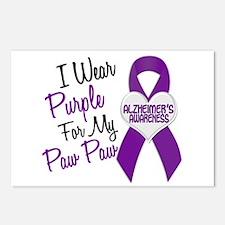 I Wear Purple 18 Alzheimers Postcards (Package of