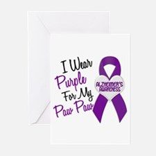 I Wear Purple 18 Alzheimers Greeting Cards (Pk of