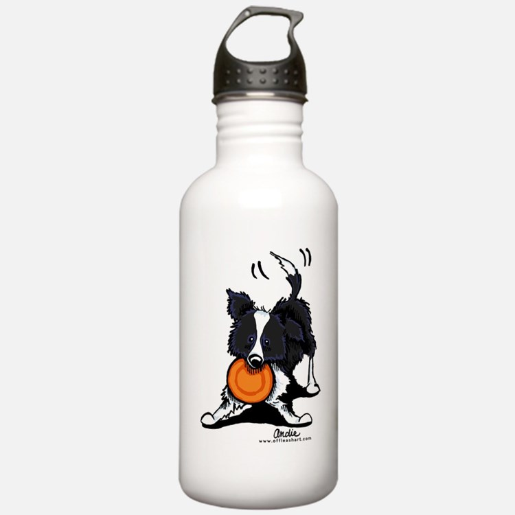 Border Collie Water Bottle