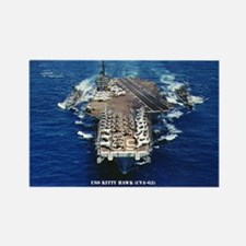 USS KITTY HAWK Rectangle Magnet