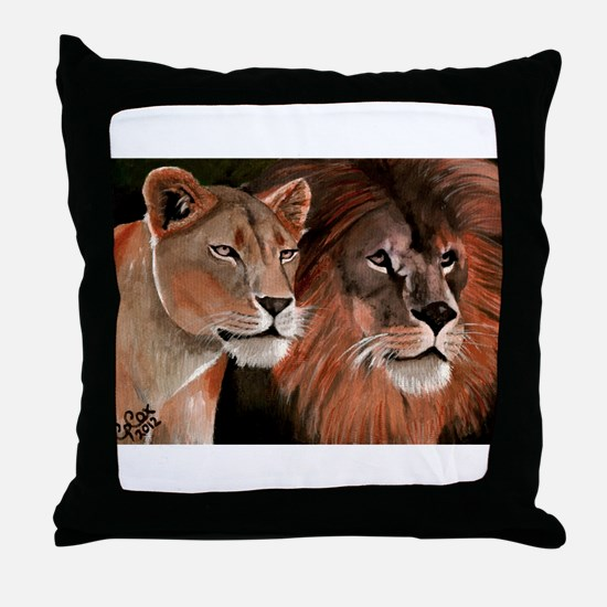 Beauty and her Beast, Throw Pillow