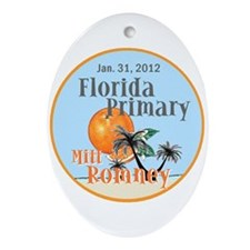 Romney Florida Ornament (Oval)