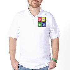 Vivid Pop Art Cats T-Shirt