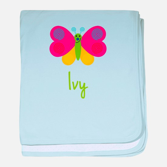 Ivy The Butterfly baby blanket