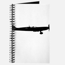 Funny Raf spitfire fighter plane Journal