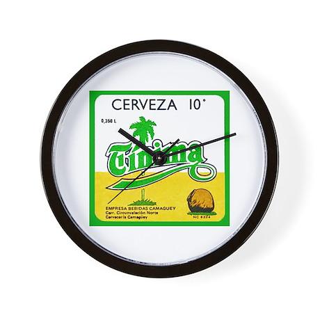 Cuba Beer Label 3 Wall Clock
