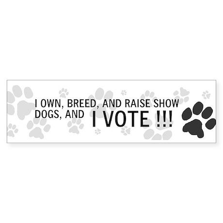 My dogs vote Sticker (Bumper)