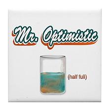 Mr. Optimistic Tile Coaster