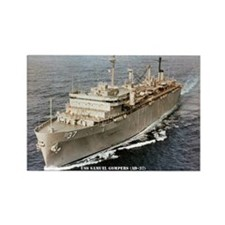 USS SAMUEL GOMPERS Rectangle Magnet