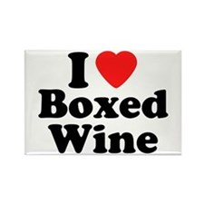Boxed Wine Rectangle Magnet