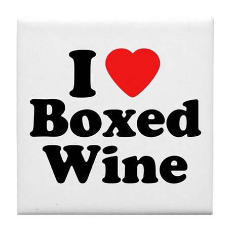 Boxed Wine Tile Coaster
