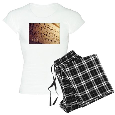 Egypt Hieroglyphic Wall Photo Women's Light Pajama