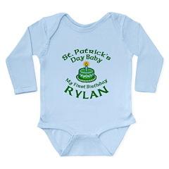 Rylan Personalized Birthday Long Sleeve Infant Bod