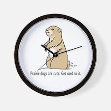 Prairie dogs are cute Wall Clock