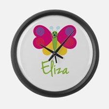 Eliza The Butterfly Large Wall Clock