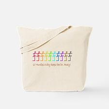 10 Hurdles a day keeps the Dr. away! Tote Bag