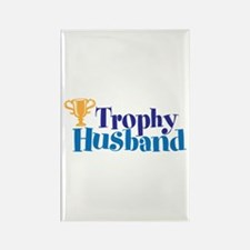 Trophy Husband Valentine Rectangle Magnet