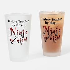 History Teacher Ninja Drinking Glass