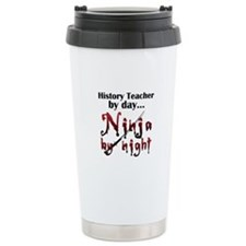 History Teacher Ninja Travel Mug