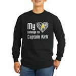My Heart Belongs to Captain Kirk Long Sleeve Dark