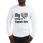 My Heart Belongs to Captain Kirk Long Sleeve T-Shi