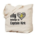 My Heart Belongs to Captain Kirk Tote Bag