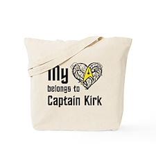 My Heart Belongs to Captain Kirk Tote Bag