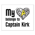 My Heart Belongs to Captain Kirk Small Poster