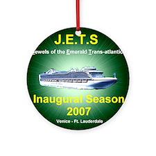 JETS EMERALD TA 2007 Ornament (Round)